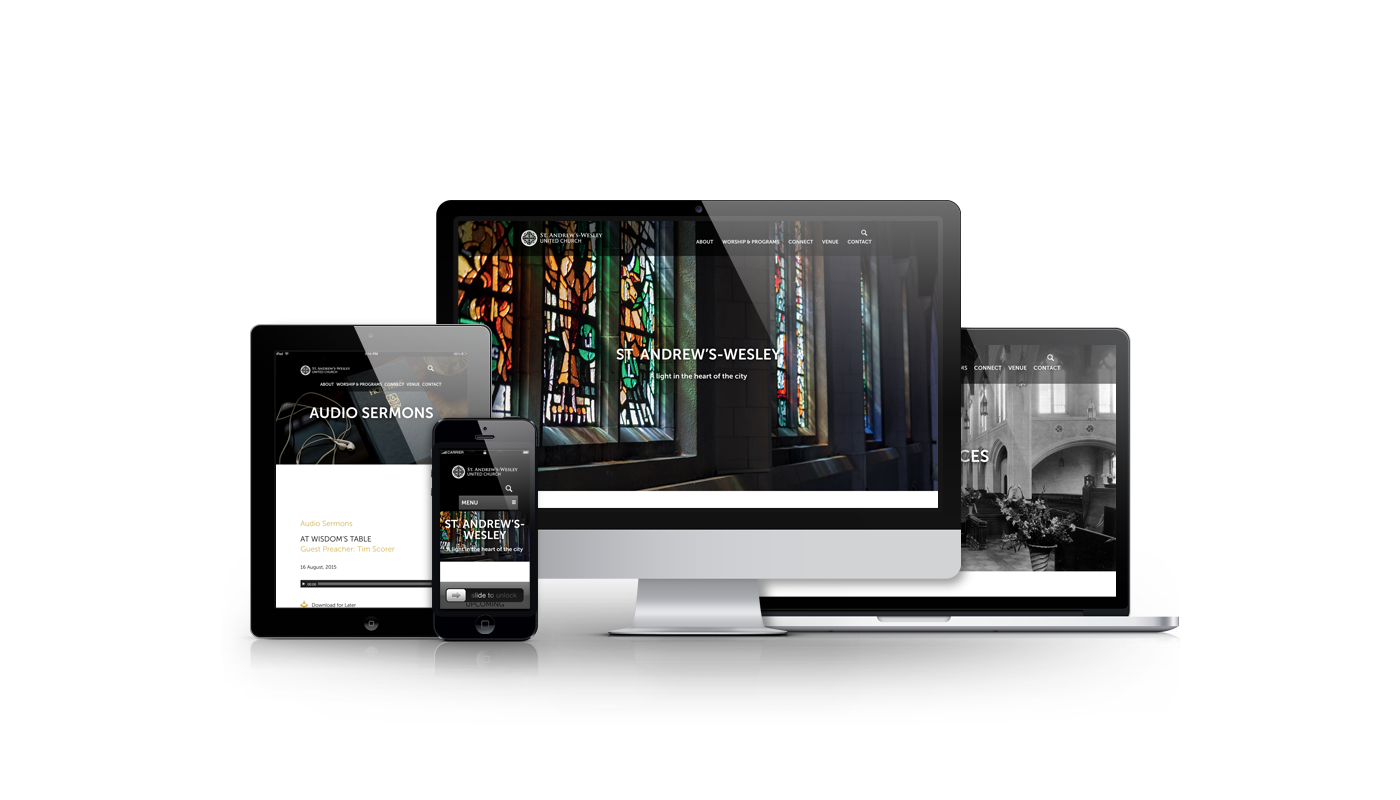 Magick Media website developed for St. Andrew's-Wesley United Church