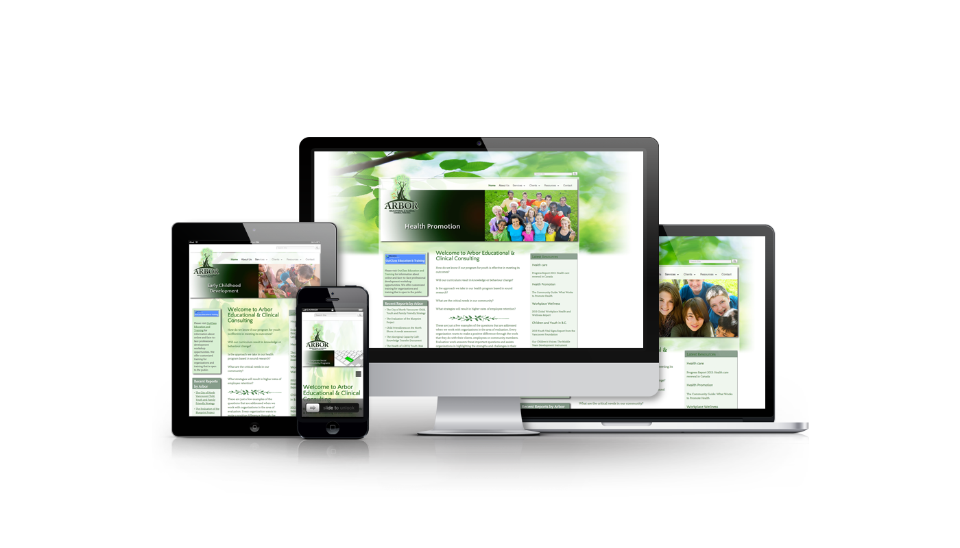 Arbor Education & Clinical Consulting website developed by Magick Media