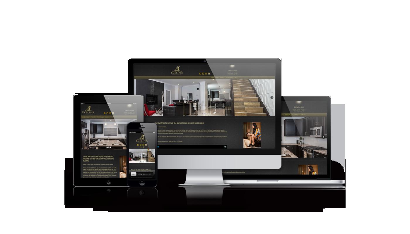 Evelina Developments website developed by Magick Media