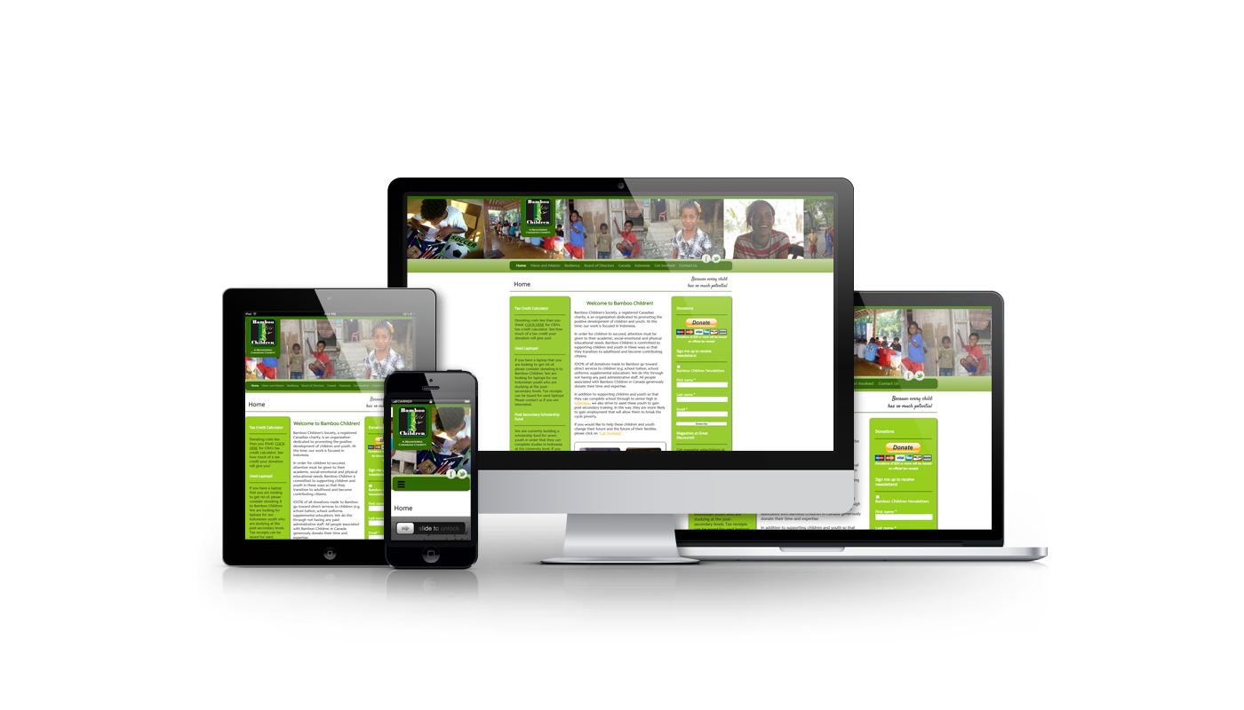 Bamboo Children website designed and developed by Magick Media
