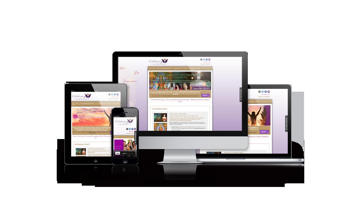 Celebrating the Goddess website redesign by Magick Media
