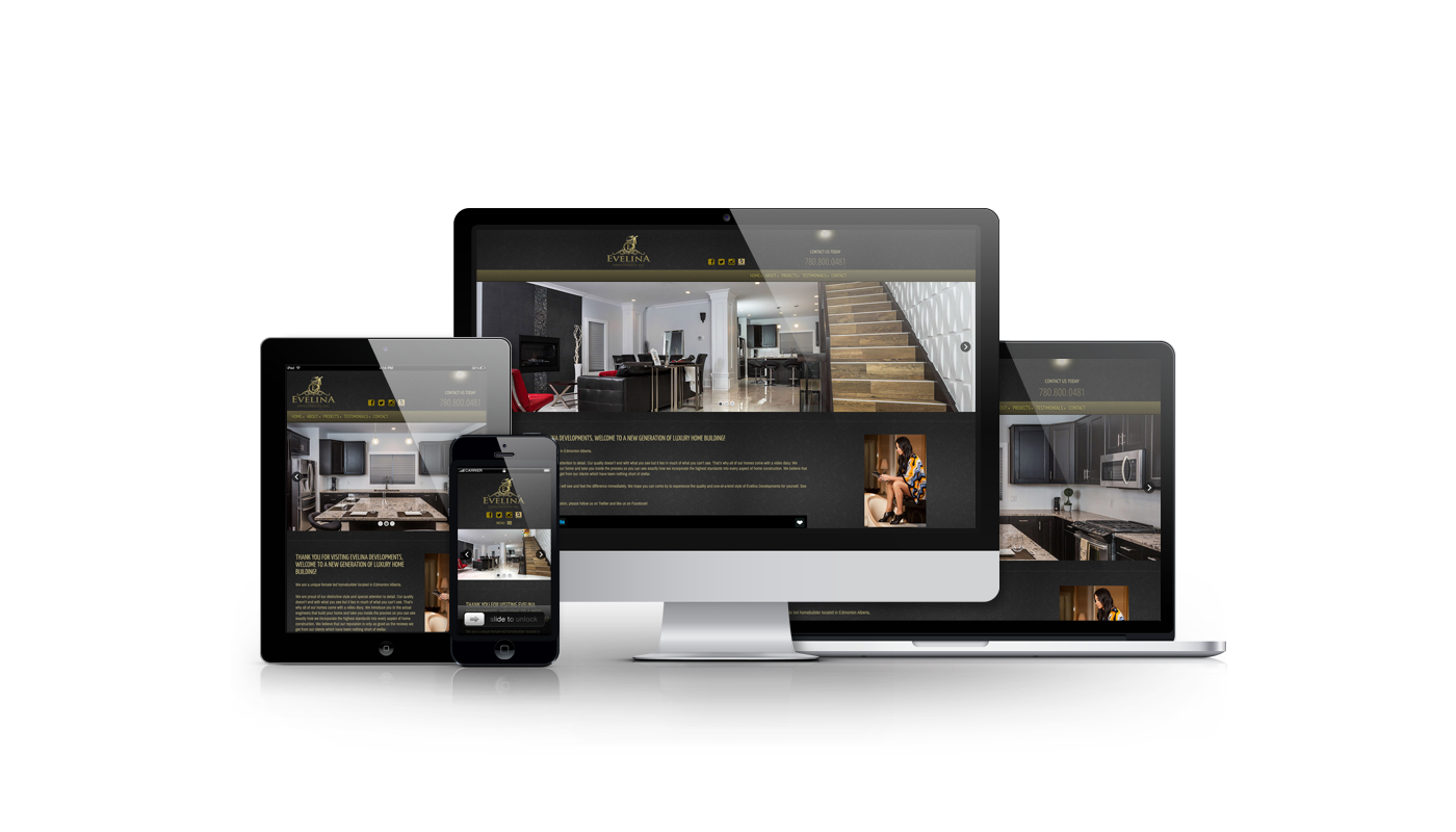 Evelina Developments website developed by Magick Media